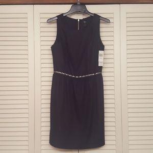 AQUA BLOOMINGDALES BLACK KNEE LENGTH DRESS - NWT